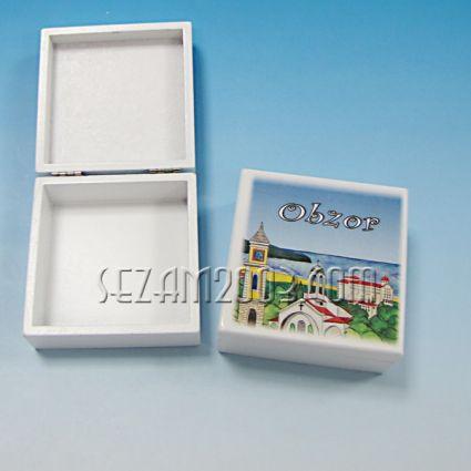 кутийка от дърво бяла с изглед - Обзор