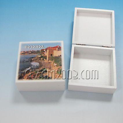кутийка от дърво бяла с изглед - Созопол