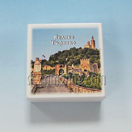 кутийка от дърво бяла с изглед - В.Търново