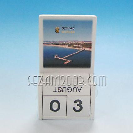 календар от дърво - Бургас