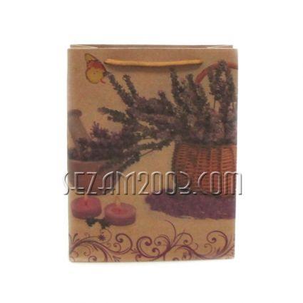 подаръчни торбички кафява хартия - лавандула