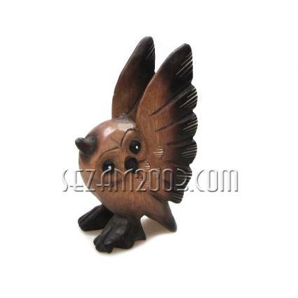 Бухал с разперени криле -  сувенир от дърво  ръчна изработка