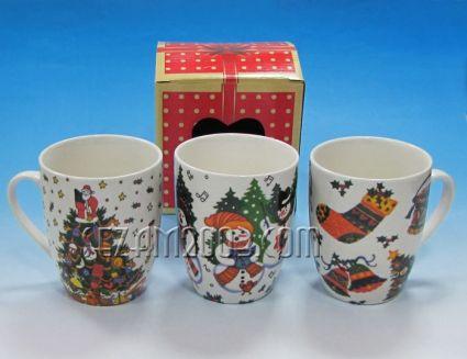 чаша керамична КОЛЕДНА + подаръчна кутия