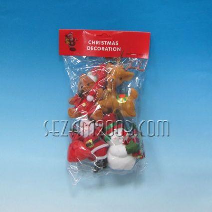 Коледна декорация - Д.Коледа,снежко,сърничка,мече