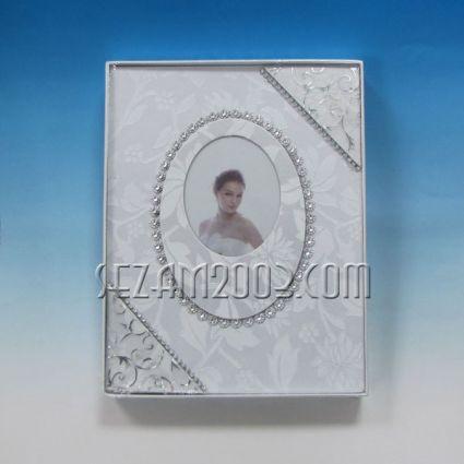 фотоалбум-сватбен декор-от лукс хартия и плат за 100 снимки 13/18см в джоб