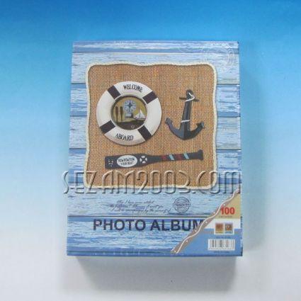 фотоалбум-от лукс хартия с морски декор за 100 снимки 10/15см в джоб