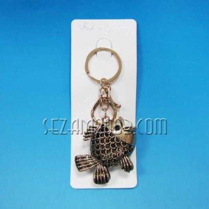 Ключодържател риба от метал и камъни