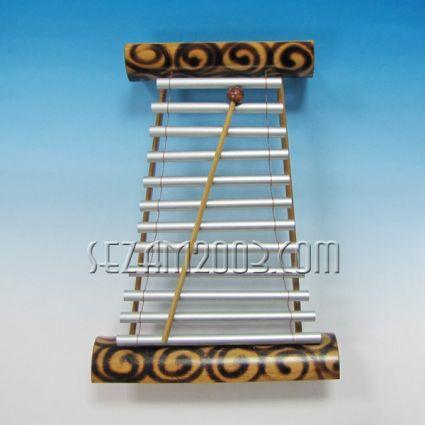 ксилофон бамбуков с алуминиеви пръчки