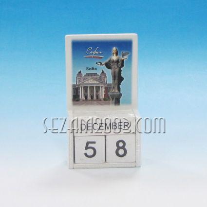 календар от дърво - София