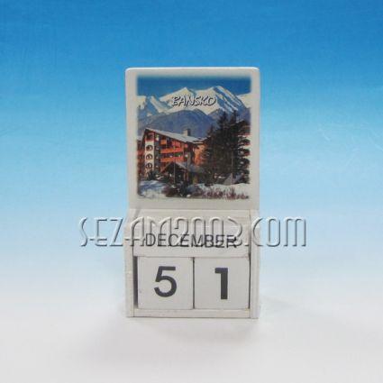 календар от дърво - Банско