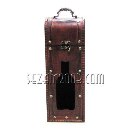 Кутия за вино от дърво права