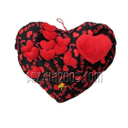 Възглавничка от плат декорирана св.Валентин