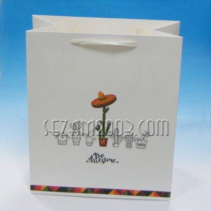Подаръчна торбичка от лукс хартия - КАКТУС