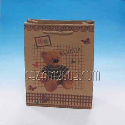 Подаръчна торбичка от крафт хартия - детска