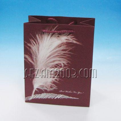 Подаръчна торбичка от лукс хартия - ПЕРО