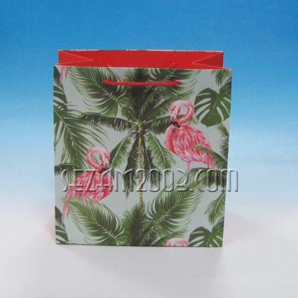 Подаръчни торбички от лукс хартия-ФЛАМИНГО