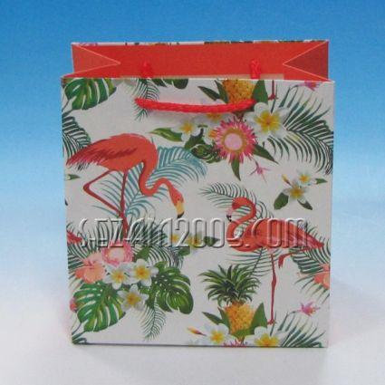 Подаръчна торбичка от лукс хартия - ФЛАМИНГО