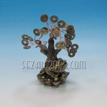 дърво на живота с жабка и парички от резин и метал