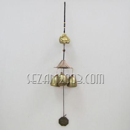висулка/вятърен звънец от месинг с фигурка на БУДА