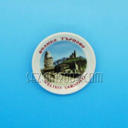 керамична чинийка-магнит за хладилник с картинка на Велико Търново