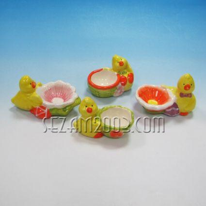 Великденска декорация - поставка за яйце от керамика - 4 модела