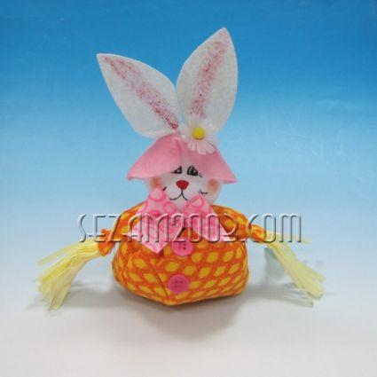 Великденска декорация - ЗАЕК от плат топче