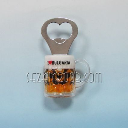 ХАЛБА - магнит за хладилник от пластмаса+отварачка с надпис България
