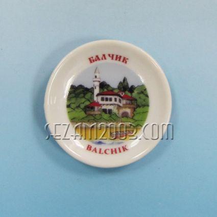 керамична чинийка-магнит за хладилник с картинка на Балчик