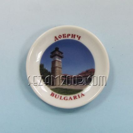 керамична чинийка-магнит за хладилник с картинка на Добрич