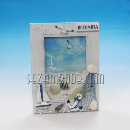 рамка за снимки морски декор от дърво+БГ
