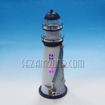 Фар метален светещ