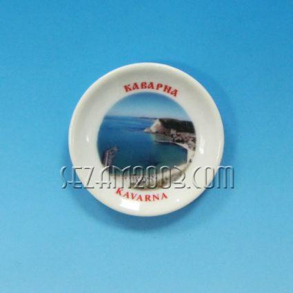 керамична чинийка-магнит за хладилник с картинка на Каварна