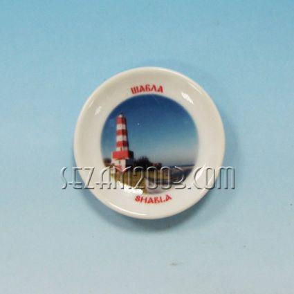 керамична чинийка-магнит за хладилник с картинка на Шабла