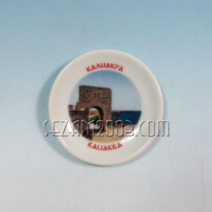керамична чинийка-магнит за хладилник с картинка на Калиакра