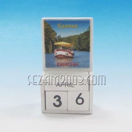 календар от дърво - КАМЧИЯ