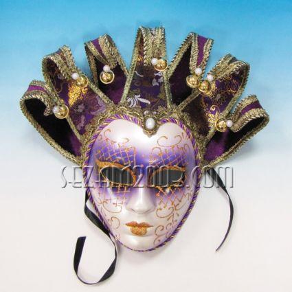 Маска карнавална за лице от пластмаса и плат