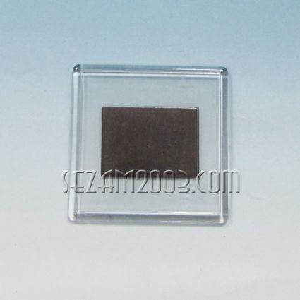 магнит за хладилник квадрат пластмасов -заготовка / отваря се отпред/
