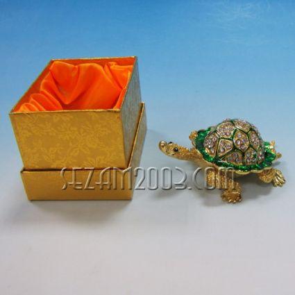 КОСТЕНУРКА - метален сувенир/кутийка за бижута с камъни