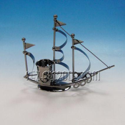 Платноход+моливник  - макет/сувенир от метал