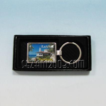 Ключодържател метален+лукс кутийка с пейзаж от Балчик