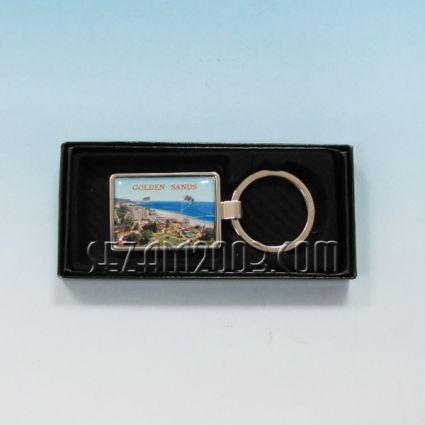Ключодържател метален+лукс кутийка с пейзаж от Златни пясъци