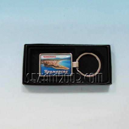 Ключодържател метален+лукс кутийка с пейзаж от Приморско
