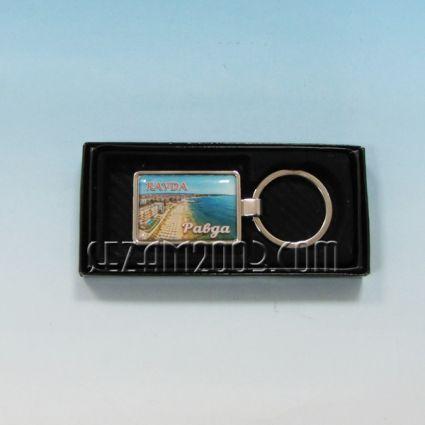 Ключодържател метален+лукс кутийка с пейзаж от Равда