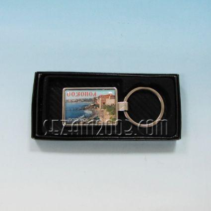 Ключодържател метален+лукс кутийка с пейзаж от Созопол