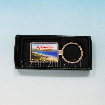Ключодържател метален+лукс кутийка с пейзаж от Кранево