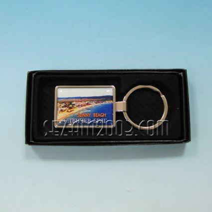 Ключодържател метален+лукс кутийка с пейзаж от Слънчев бряг