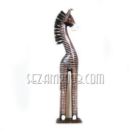 Зебра от дърво декорирана  ръчна изработка