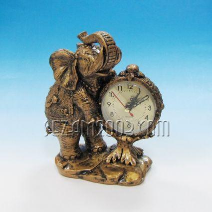 Слон - фигура от полирезин+часовник