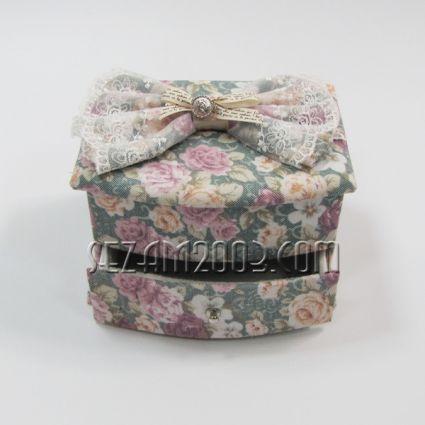 Кутия за бижута с чекмедже -РАКЛА с огледало от плат