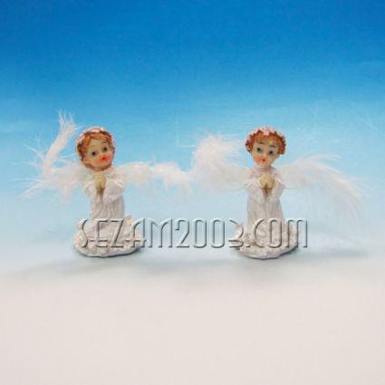 АНГЕЛЧЕ с пухени крила - фигура от полирезин